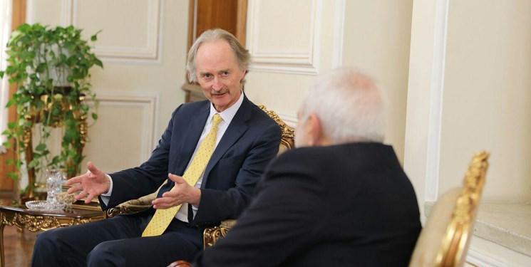 نماینده ویژه دبیرکل سازمان ملل در امور سوریه با ظریف دیدار می نماید