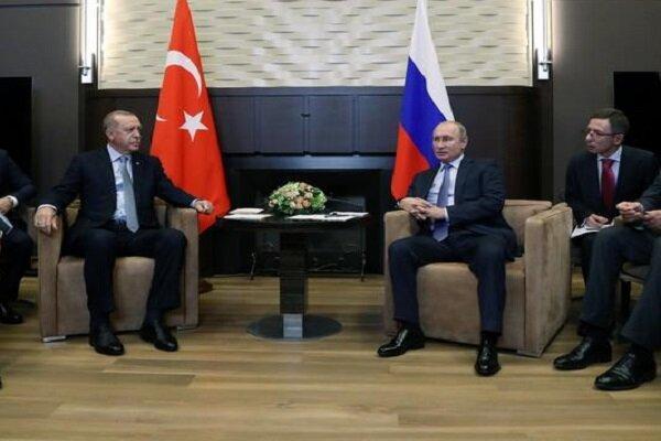 اردوغان و پوتین در ارتباط با سوریه تبادل نظر کردند
