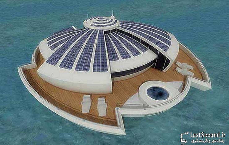 هتل شناور خورشیدی در ایتالیا
