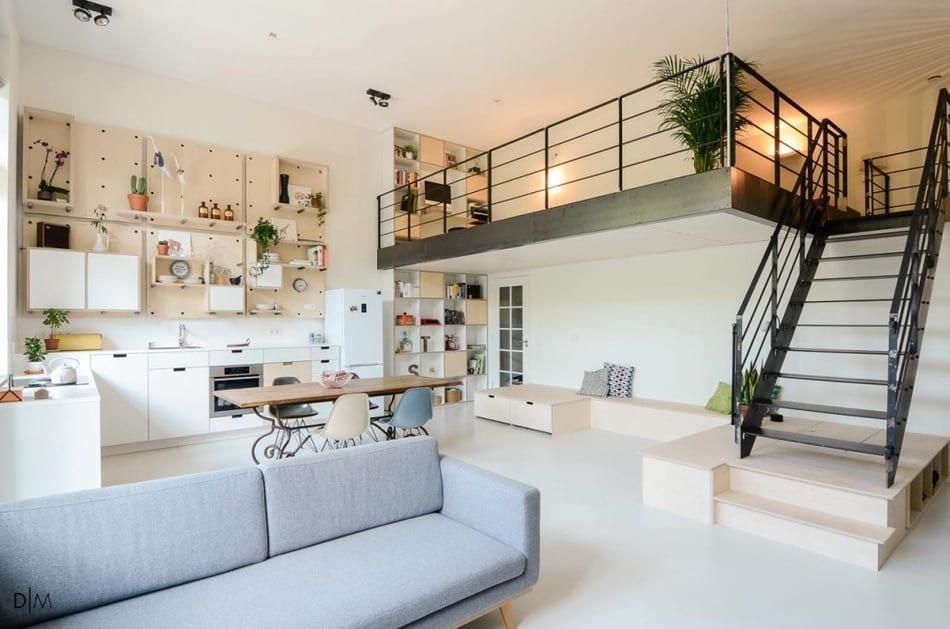 تبدیل مدرسه ای قدیمی در آمستردام به یک خانه