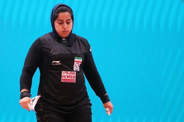 بانوی وزنه بردار ایرانی در صندلی هفتم بازی های وزنه برداری گزینشی المپیک نهاده شد