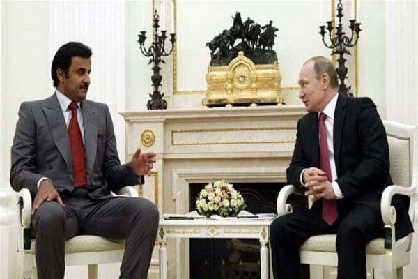 پوتین و امیر قطر مصاحبه کردند