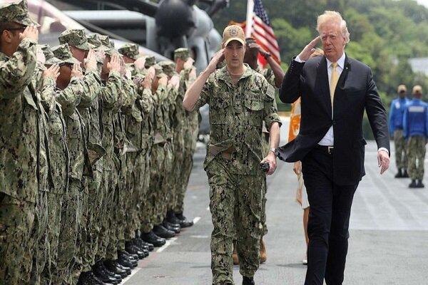 اعتراضات تمام نشود ارتش آمریکا را وارد میدان می کنم