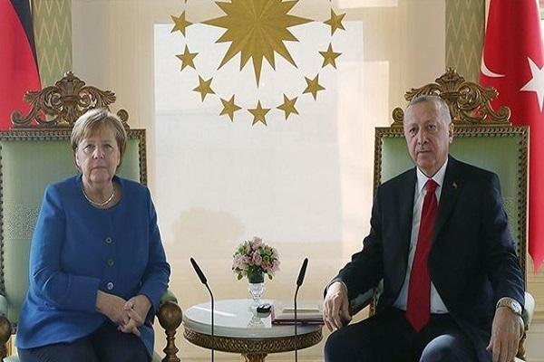 گفت وگوی اردوغان و مرکل درباره قره باغ و شرق مدیترانه