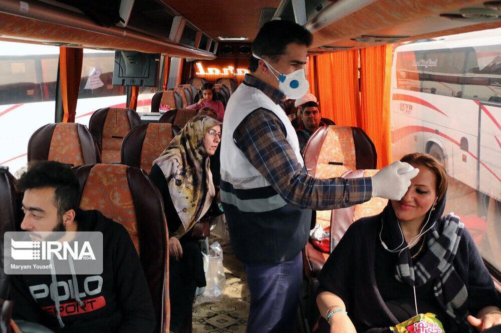 خبرنگاران رصد سلامت مسافران در پایانه های بوشهر مداوم انجام می گردد