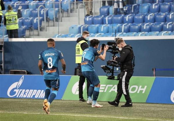 لیگ برتر روسیه، پیروزی زنیت در آخرین بازی نیمفصل با گل آزمون