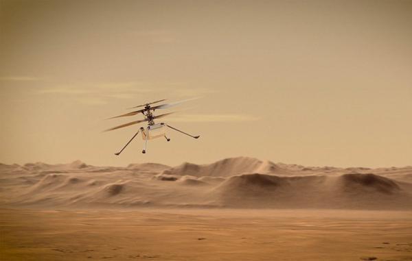 بالگرد مریخی نبوغ تا چند هفته دیگر در سیاره سرخ پرواز خواهد نمود