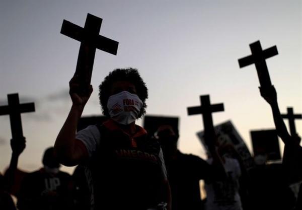 اعتراض سیاهپوستان برزیلی نسبت به نژادپرستی و خشونت پلیس