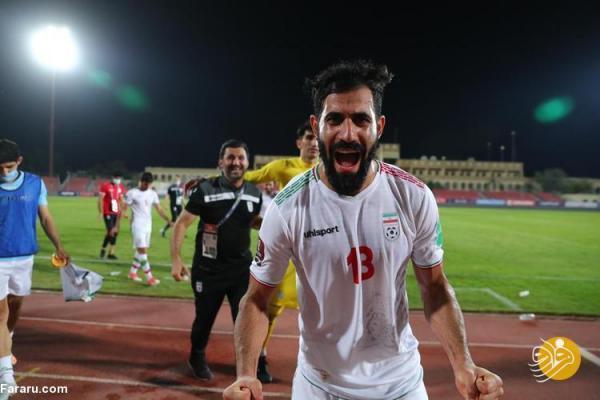 (تصاویر) جشن و پایکوبی بازیکنان تیم ملی در بحرین