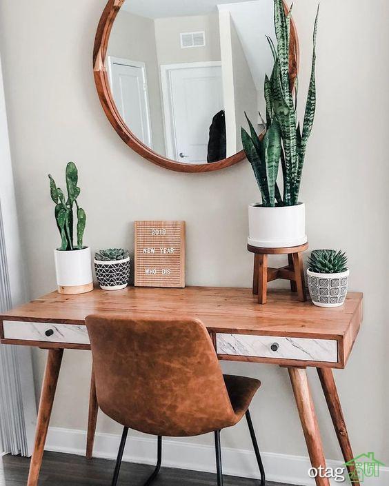 مدل میز تحریر کوچک و کم جا با طراحی فوق العاده شیک و کاربردی